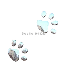 Car Sticker 3D Dog Bear Footprints Chrome Badge Emblem Car Sticker Decal  E2shopping(China (Mainland))