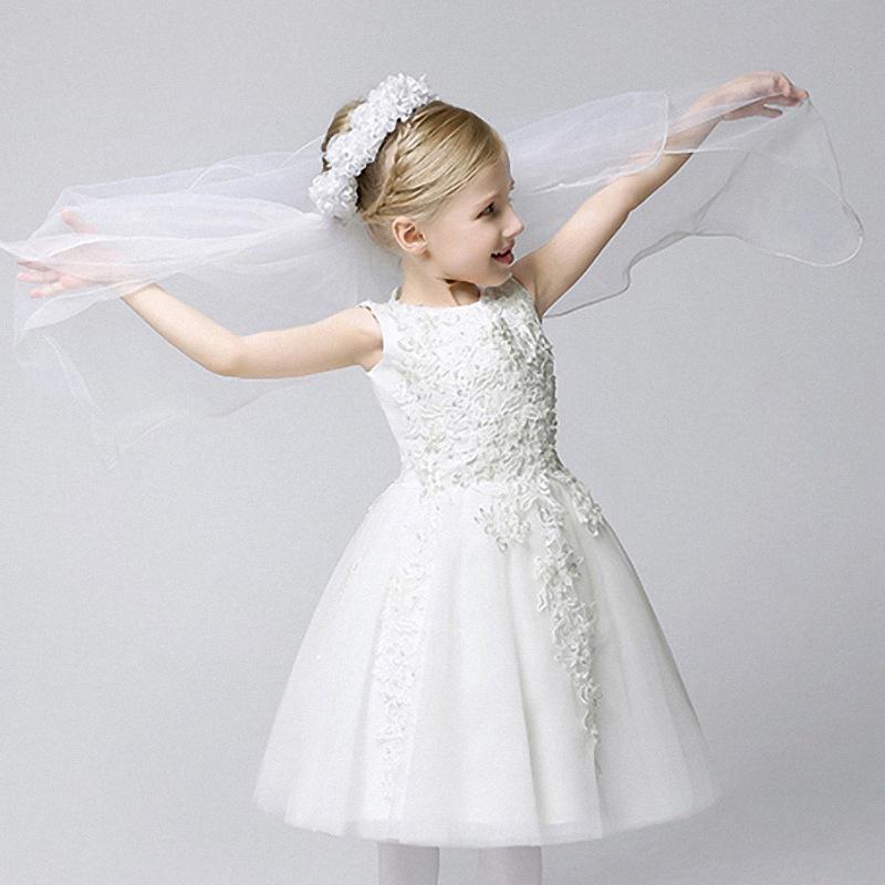 New Girls Hair Accessories Fashion Diamond Pearl Flower Party Wedding Veil Kids Hair Bands(China (Mainland))