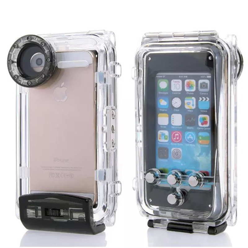 High Quality 40M Diving Waterproof Case for iPhone 6 Plus 5.5inch Plastic Waterproof Phone Bag Cover for Swimming Fishing Sports(China (Mainland))