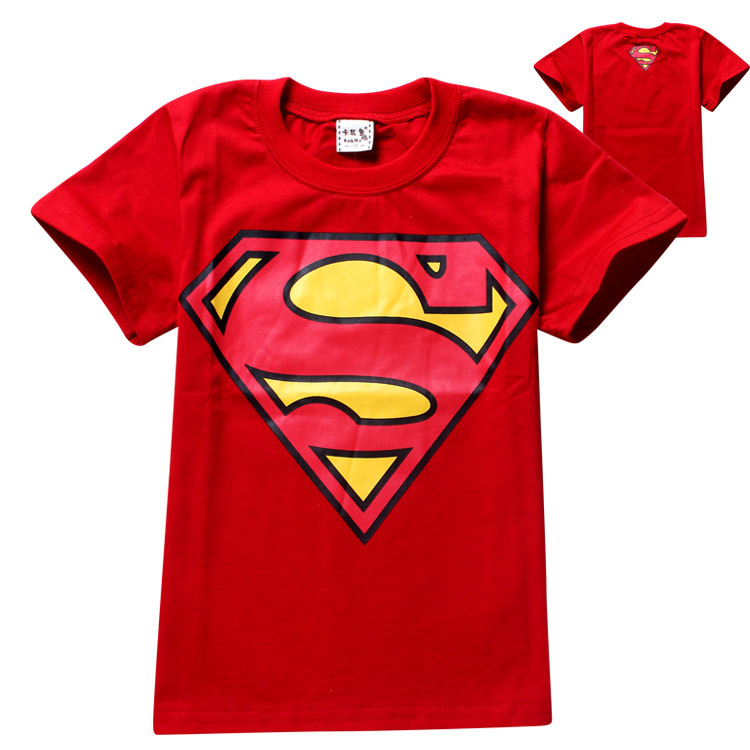 2015 new arrive superhero superman short sleeve t shirt Boys superhero t shirts