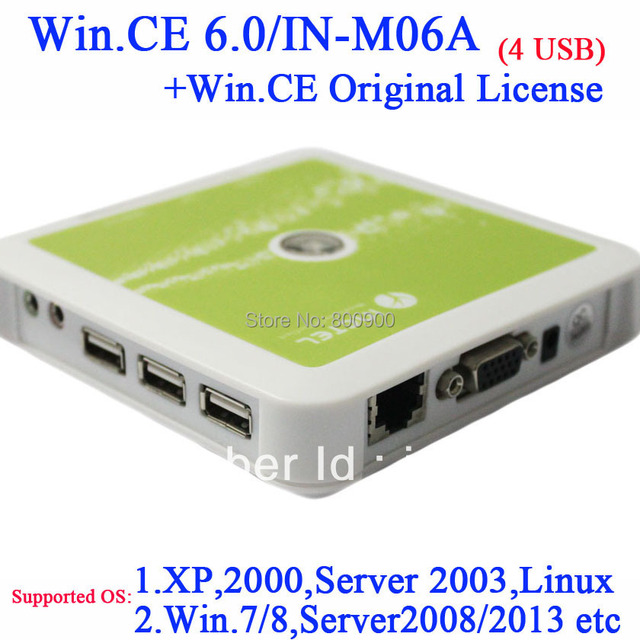 N380 Windows embeded CE 6.0 Core thin clients with 4*USB ports 128MB RAM 128MB Flash ARM11 800MHz  windows and linux support