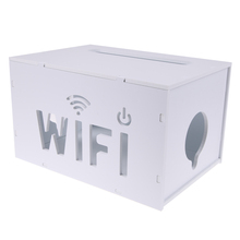 Buy 26*18*15.5cm White Portable Household Wifi Router Extension Socket Home Orgnization& Storage PVC Detachable Boxes for $11.90 in AliExpress store