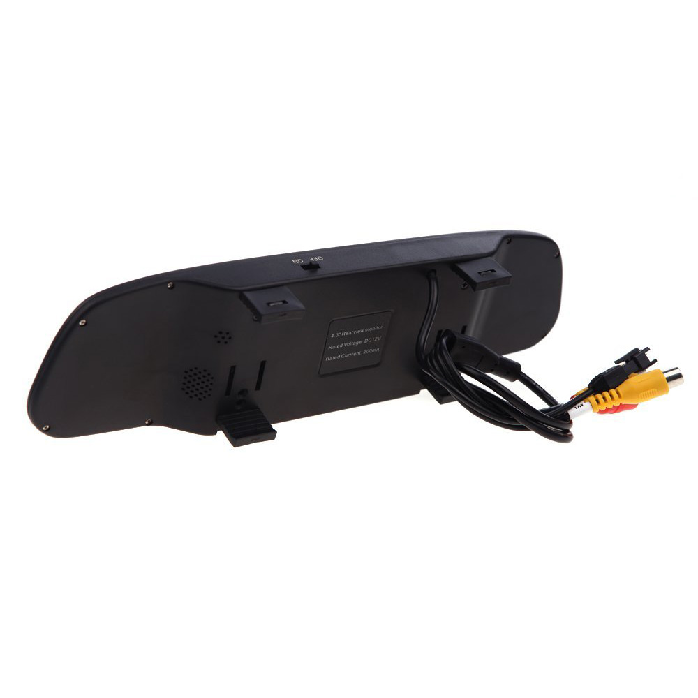 "EDFY 12V 4 Parking Sensors 4.3"" TFT LCD Display Camera Video Car Rearview Mirror Reverse Radar System"