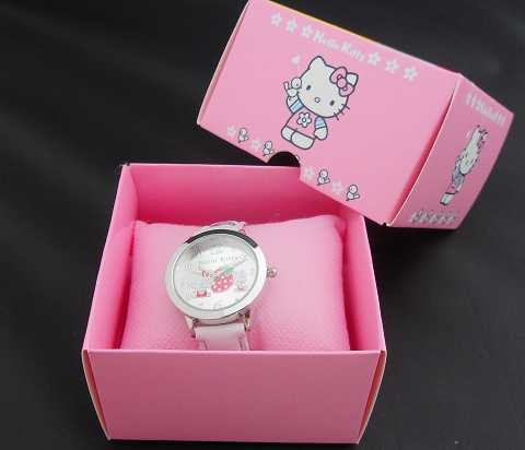 Hello Kitty watches girl KT cat square children watch free shipping in box 1pcs/lot(China (Mainland))