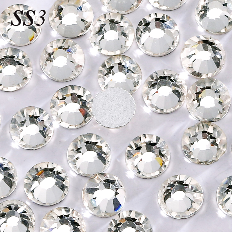 New Small Size Shiny Nail Art Decorations High Qullity Crystal Color SS3 1440pcs/Bag 3D Nail Art Non HotFix FlatBack Rhinestones(China (Mainland))