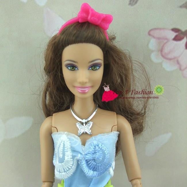 Free transport 10pcs/set  pink headhood head ornament equipment for barbie doll