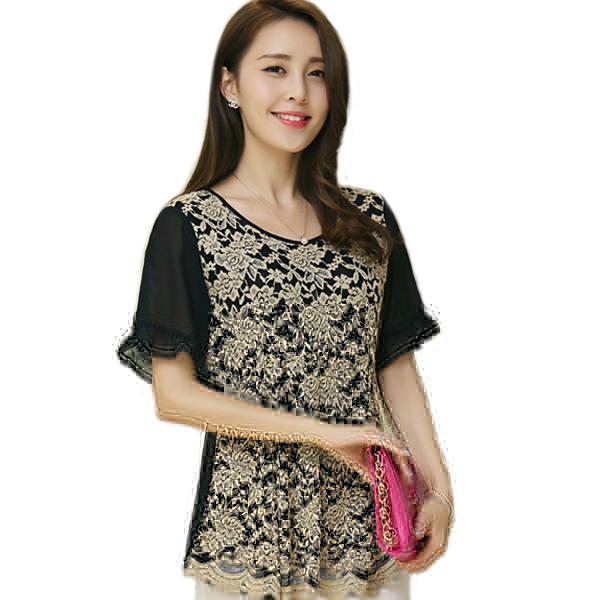 lace blouse blusa de renda female clothes ladies office. Black Bedroom Furniture Sets. Home Design Ideas