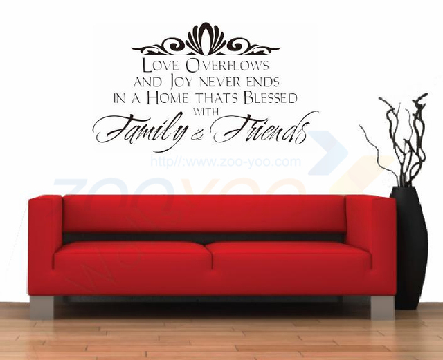 Семьи и друзей украшения дома творческий цитата стены наклейка виниловые наклейки вдохновляющие цитаты искусство деколь декора