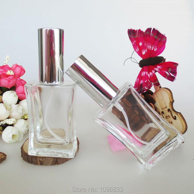 30ML Clear Perfume Bottle Tight Waist Shape, 30CC Glass Atomizer Silver Cap, Fragrance Bottle, Cosmetic Spray Bottle,20pcs/Lot(China (Mainland))