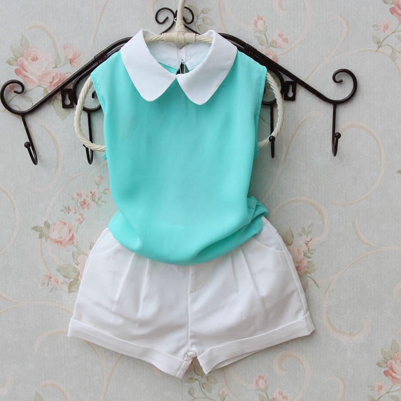 2016 New Summer Kids Girls Clothes Children Clothing Girl Vest Fashion Chiffon T shirt Mother Daughter Dresses 2 Colors Age2-16Y - A M store