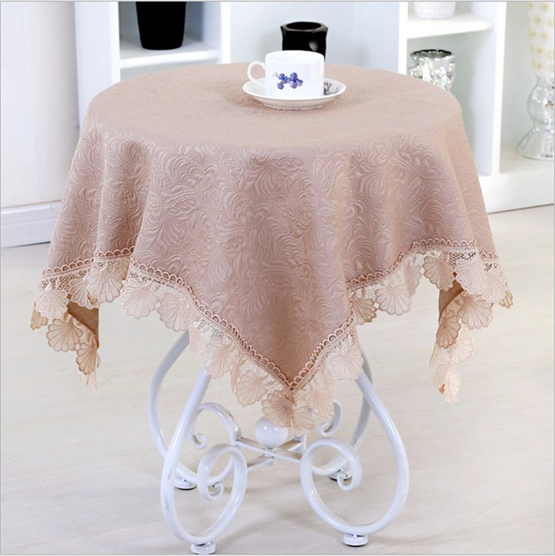 [WIT] 85*85cm Embroidery Table Cloth Banquet Lace Table Clothes Rectangular Universal Cover Cloth European Dinning Table Clothes(China (Mainland))