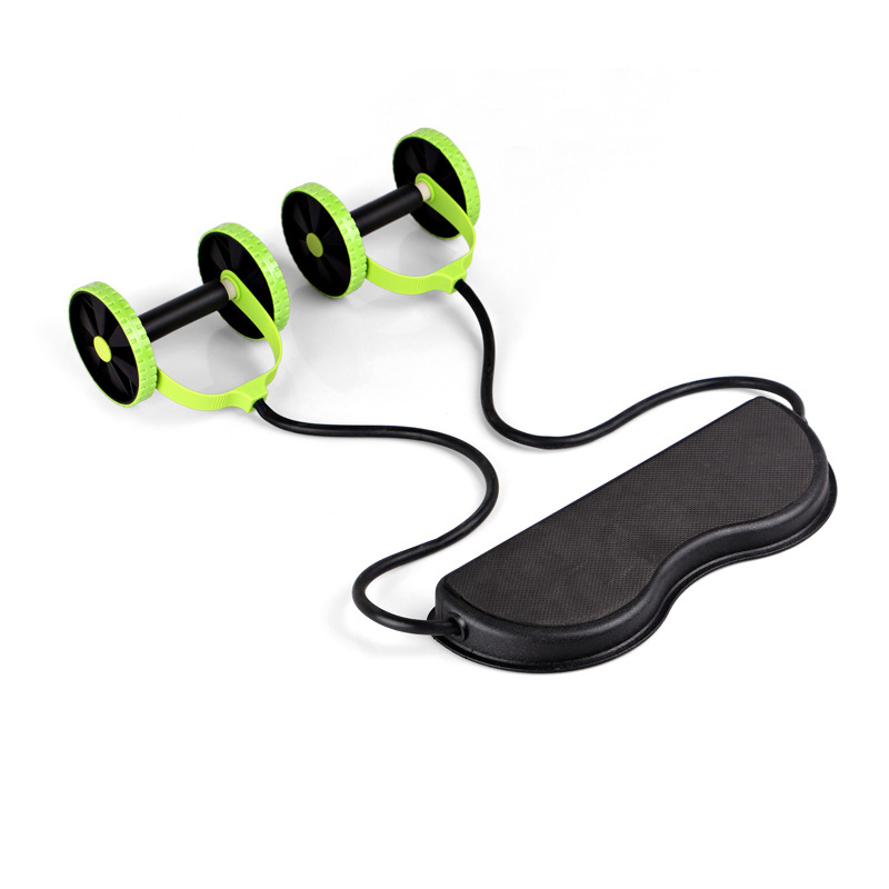 High quality fitness equipment,gym portable home exercise machines ab slide two roller,workout exercise pull strap bodybuilding(China (Mainland))