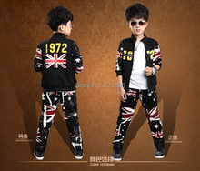 2015 New Children Clothing Sets Baby Kids Boys 100% pure Cotton  Long Sleeve Active Fashion Style Hooded Clothing Suits Sets(China (Mainland))