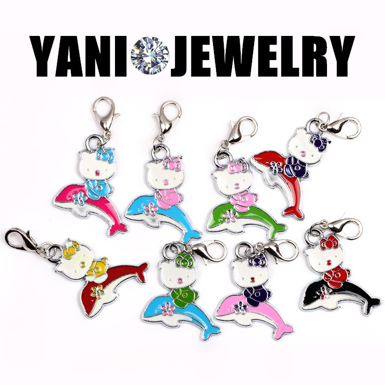 20pcs/lot Free Shipping Enamel Hello Kitty Charms For Glass Living Memory Locket(China (Mainland))