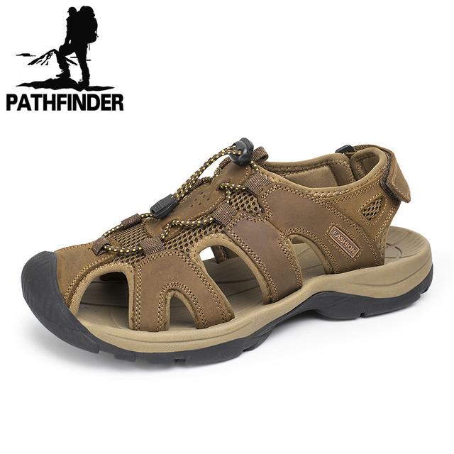 38-47 Плюс Размер Мужчины Сандалии Из Натуральной Кожи Мода Летняя Обувь Мужчины ...