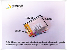 Buy best battery brand Size 103448 3.7V 1800mah Lithium polymer Battery Protection Board MP4 PSP GPS Tablet PCs PDA Free Sh for $7.20 in AliExpress store