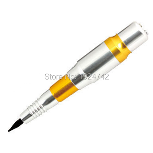 Professional Eyebrows Tattoo Pen Permanent Eyebrow Makeup Cosmetic Tattoo Machine Silver PMP-703-09