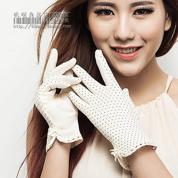sunscreen dot print design short gloves women's summer driving - Modovan Store store