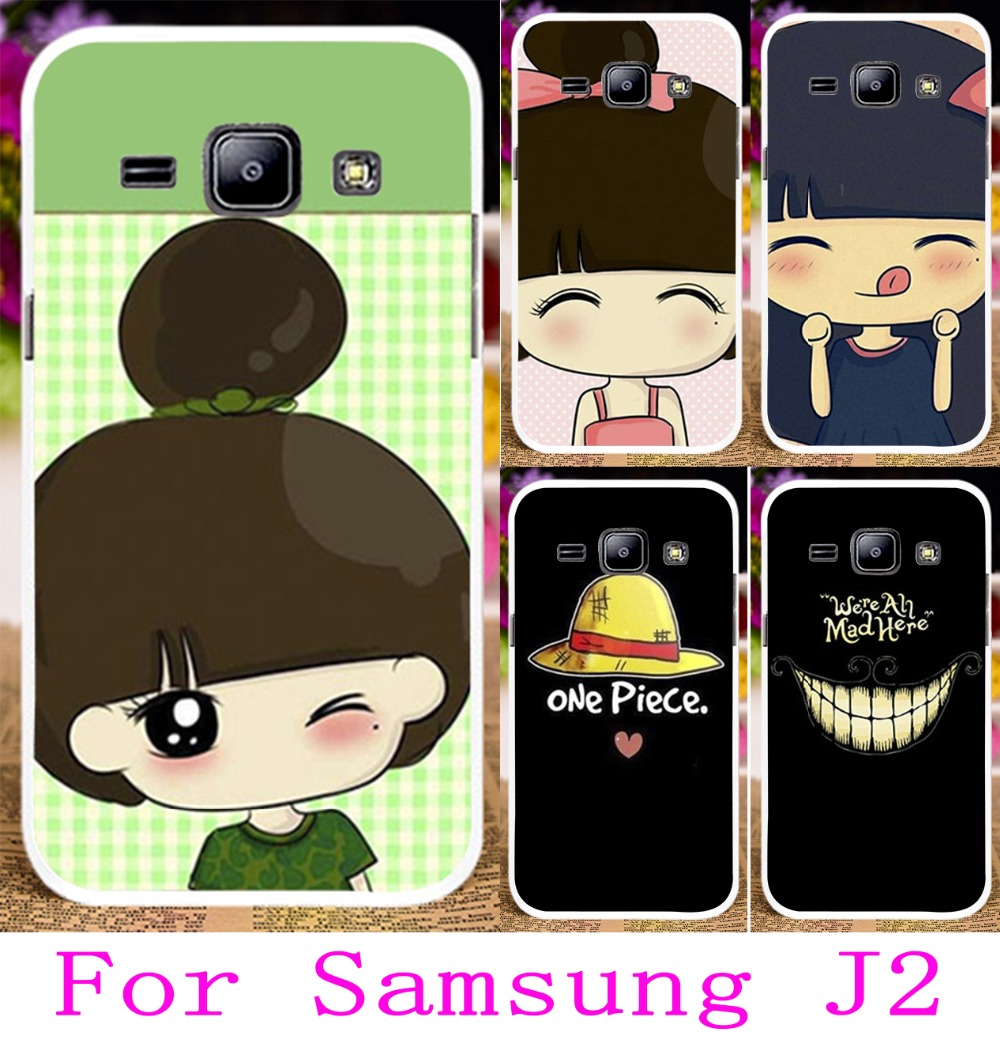 2016 Hard Plastic Phone Case For Samsung GALAXY J2 J 2 Back Covers Capa J200 Case Protector Skin Cute Girl Yellow Little Hat(China (Mainland))