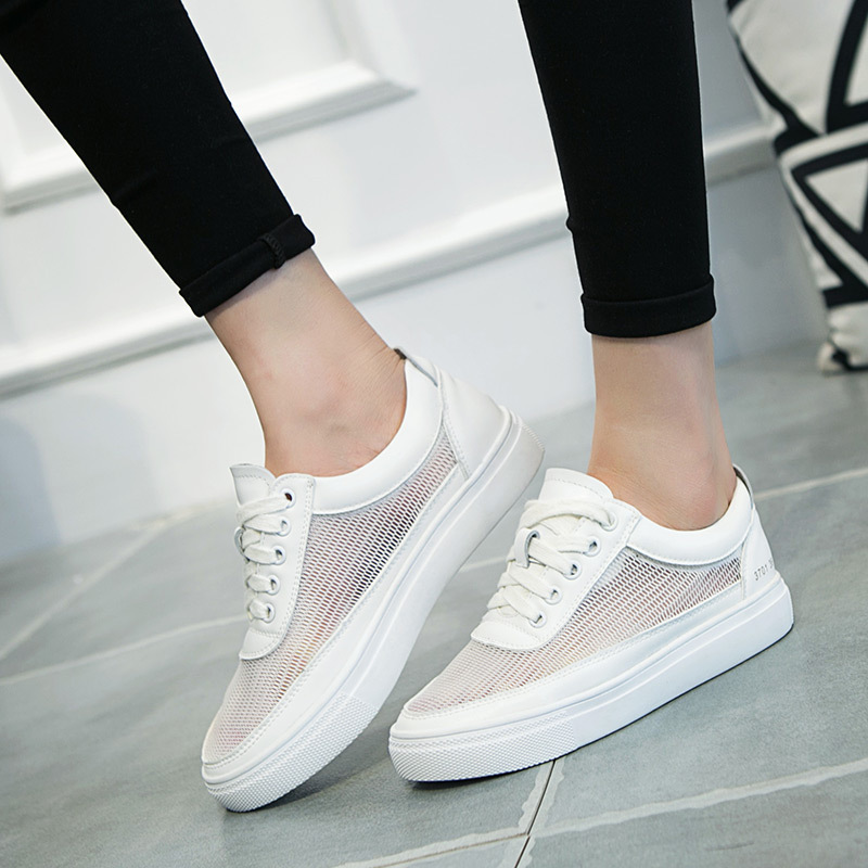 Flat heel shoes loafer white shoe 2016 summer new thick ...