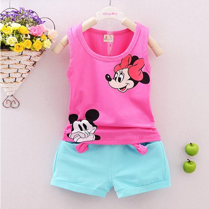 19 Styles Summer Casual Girls Boys ClothesSet Baby Children Vest Carton T-shirt+Short Pants Sport Suits Kids Clothing Sets 2 pcs(China (Mainland))