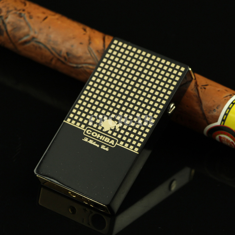 COHIBA High-end Modern design Torch Flame Cigar Lighter Classic Electronic Lighter(China (Mainland))