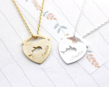2015 Gold/Silver Punk Jewlery Amitie Dolphin In The Fish Bowl Statement Stainless Steel Chain Necklace