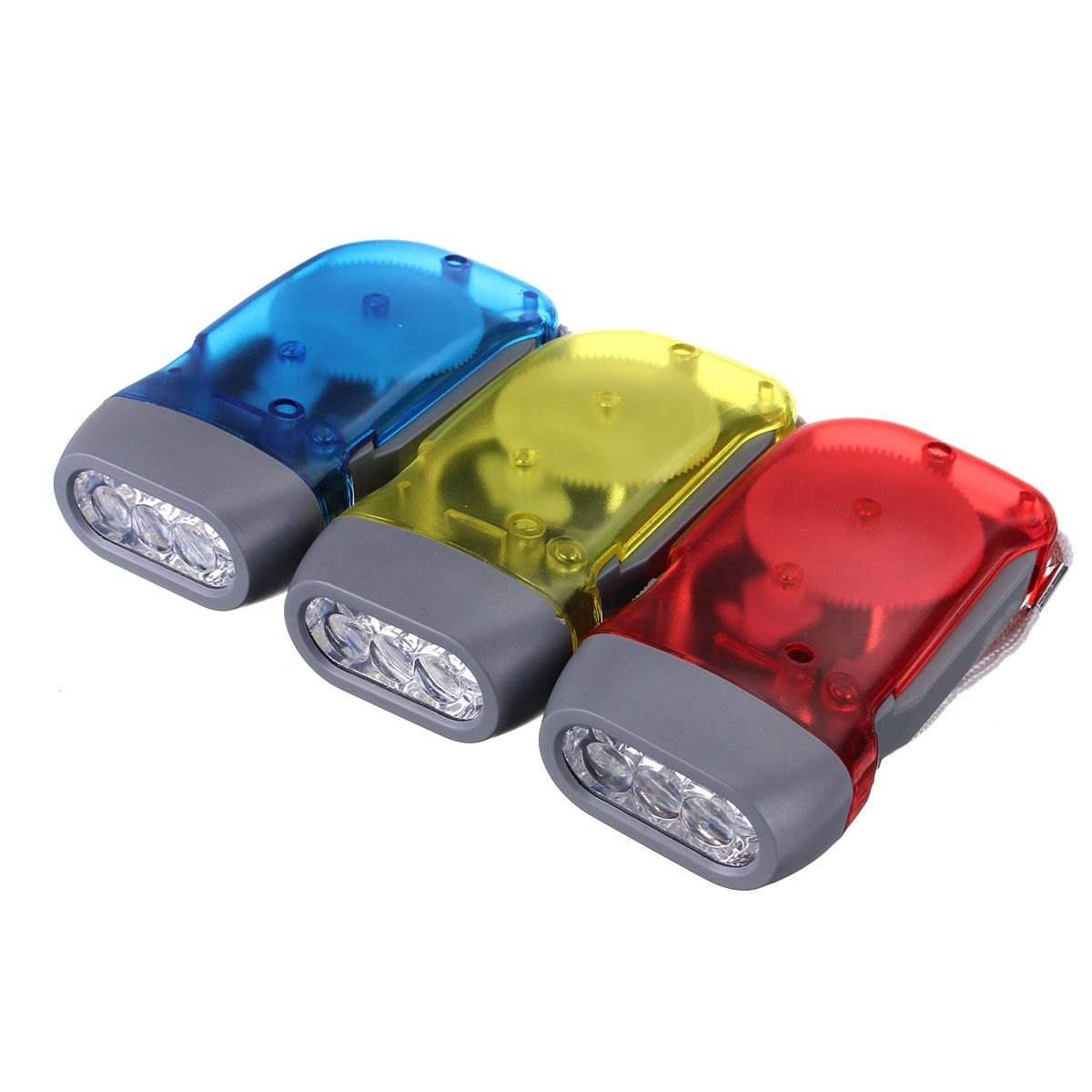 Mini Outdoor Portable 3 LED Dynamo Wind Up LED Flashlight Hand-pressing Crank NR LED Light Torch(China (Mainland))
