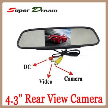 "4.3"" Car Monitor Screen LCD Car Rearview Mirror Monitor Camera DVR Monitor Rearview Mirror for car CCD camera cam Free shipping"