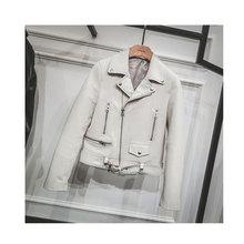 2016 Spring New Women Sheepskin Genuine Leather Jackets 3 Colors 5073(China (Mainland))