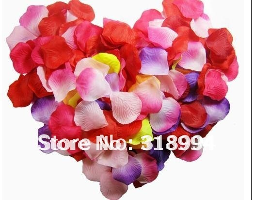 Multi-colors  Silk  Flower Rose Petal  for Wedding Party Supply Decoration