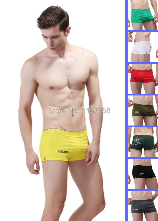 2015 Brand Men's Sexy Cotton Boxers Skull Head Boxer Underwear For Men Male Gay Boys Low Rise Pouch Home Shorts Sports Trunks(China (Mainland))