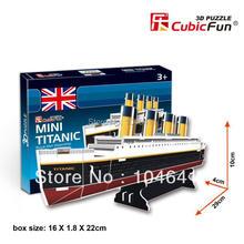 Mini Titanic CubicFun 3D educativo de papel y EPS modelo Papercraft adorno casero para el regalo navidad