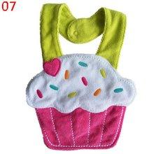 Kids Girl Boy Baby Bib Animals Cotton Saliva Towel Waterproof Infant Lunch Bibs