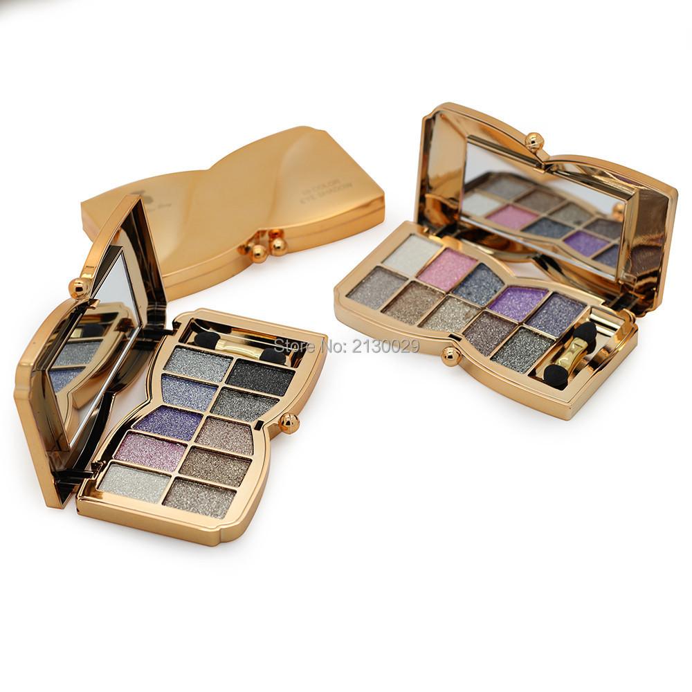 2016 Hot 10 colors Professional beauty eye shadow Diamond Bright Shining Makeup Eyeshadow Glitter lasting Cosmetic 150sets/lot(China (Mainland))