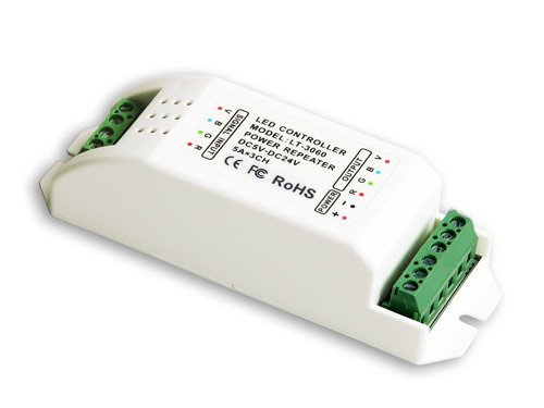 LED data repeater;3 channel RGB control;DC12-24V input;max 5A each channel output;P/N:RP306