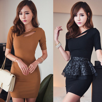 Fashion Women Dresses Ladies Female Short Sleeve Cocktail Club Party Dress Sexy Bodycon Mini Pencil Novelty Free Shipping 0357