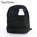 MeiyaShidun Women Backpack cartoon School bags For Teenagers Girls Travel Rucksack Cat Printing Backpacks Canvas Mochila