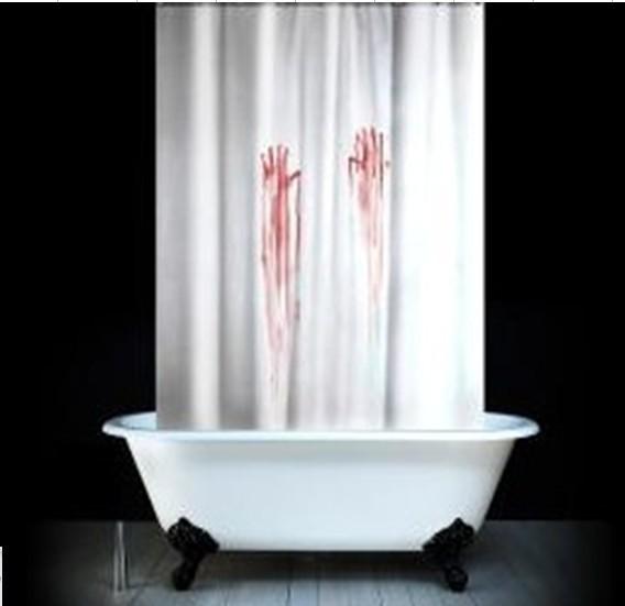 71 * 71 '' ванная комната забавный кровотечение ручной занавески для душа полиэстер водонепроницаемые полиэфирной ткани