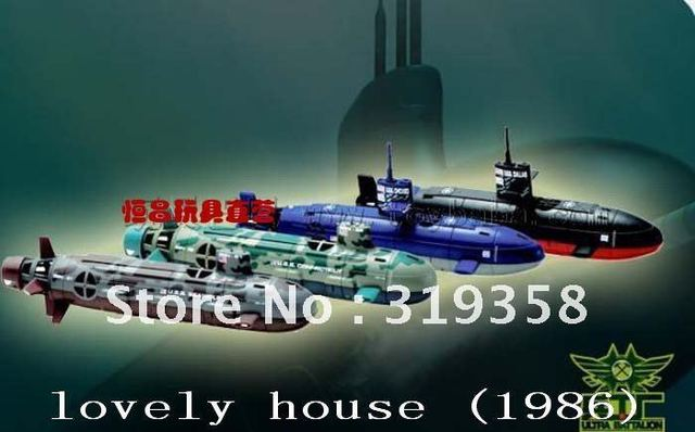 Hot sell toy warship 35cm with lights Electric Remote Control RTR 6CH R/C  Nuclear Sub (USS-22) U.S.S. SeaWolf R/C Submarine