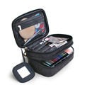 Cosmetic Bag Double Layer Organizer Cosmetics Beauty Brushes Professional Makeup Bag Women Travel Toiletry Makeup Cases