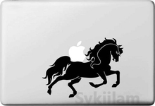 Buy Running Horse Creative Black Decorative Decal Macbook Skin Air 11 12 13 Pro13 15 17 Retina Laptops Wall Car Vinyl Sticker for $4.31 in AliExpress store