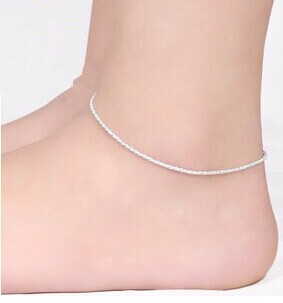 Korea Fashion Foot Jewelry Hemp Rope Anklets 925 Sterling Silver Jewelry Exquisite Foot Accessories High Quality Gift Wholesale(China (Mainland))