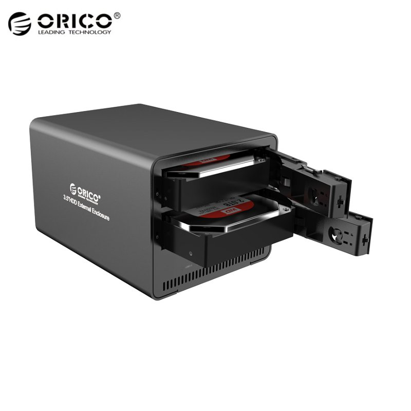 "ORICO 9528RU3 Super Speed Aluminum 2-Bay 3.5"" SATA To USB 3.0 HDD Enclosure RAID External Hard Drive For Notebook Desktop PC(China (Mainland))"