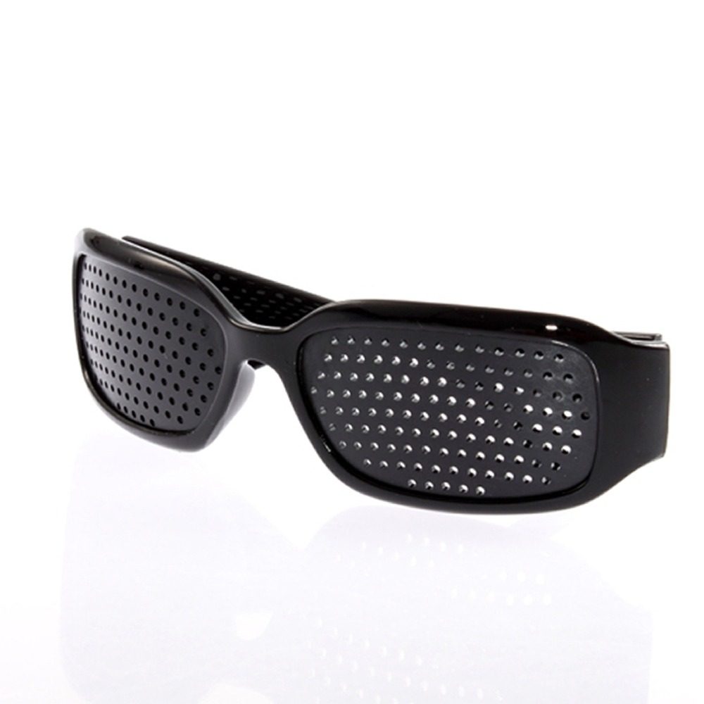 New Vision Spectacles Goggles Eyesight Improve Pinhole Small Pin Hole Eyes Training Exercise Glasses Eyewear Black Wholesale<br><br>Aliexpress