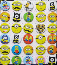 Despicable Me Minions 4.3 CM 30 pieces/lot set PIN BADGES new Cartoon& animation PIN back BUTTONS PARTY BAG GIFT CLOTH
