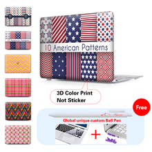 Fashion Plaid Retro Pattern Matte Hard Crystal Laptop Case For Apple Macbook Air 11 13 For Mac book Pro 13 15 New 12 inch Shell