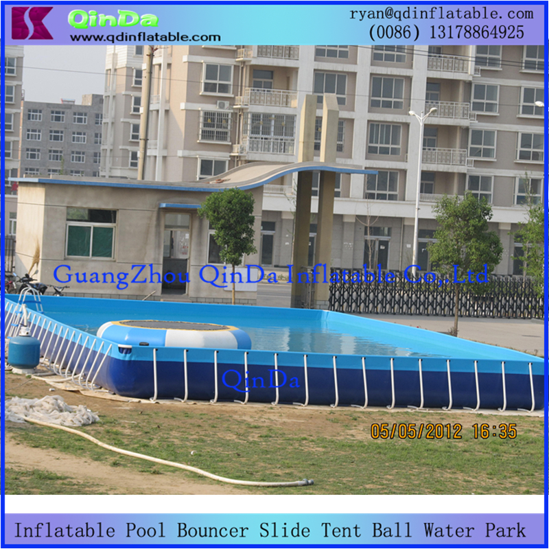 Frame swimming pool for backyard square metal frame pool with cover for sale above ground pool Square swimming pools for sale