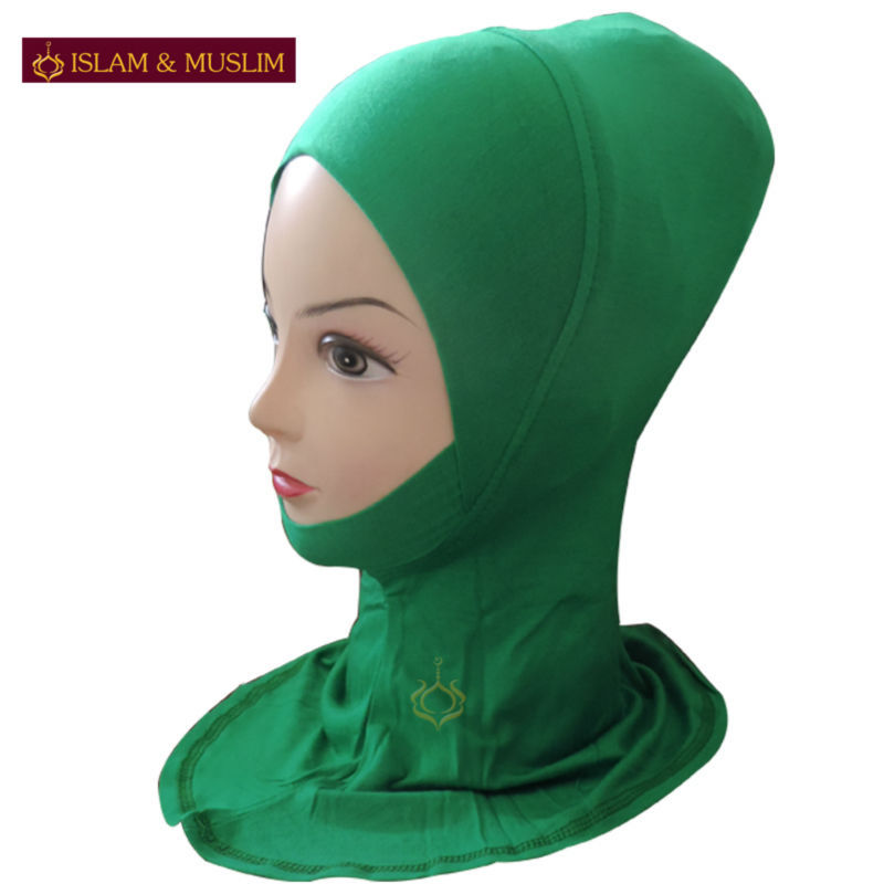 FREE SHIPPING wholesale muslim hijab mini wrap islamic inner easy neck instant latest design modal turban ninja green underscarf(China (Mainland))