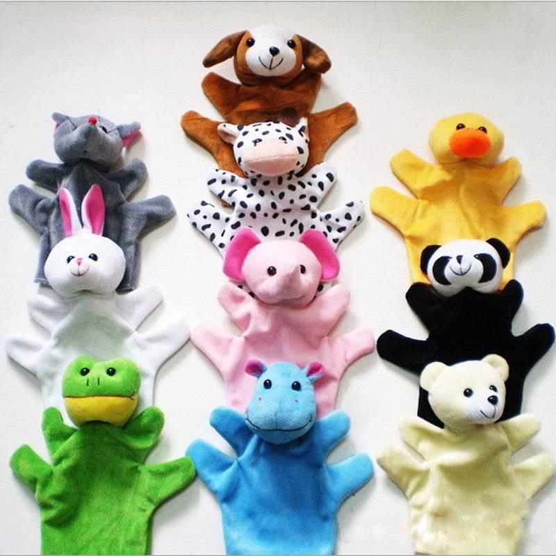 Hot Selling Cute Animal Glove Puppet Hand Doll toys Plush Toy Baby Child Educational Toys Birthday Gifts(China (Mainland))